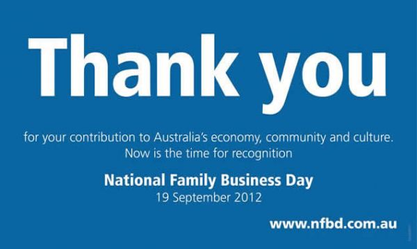 FINH supports Australia's National Family Business Day- Sept 19th 2012